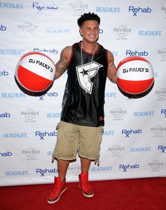Jersey Shore's DJ Pauly D on red carpet at Rehab Sunday Pool Party Summer Season Kick-Off