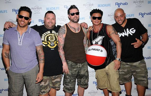 "Jersey Shore's DJ Pauly D and Paul DelVecchio and ""The Pauly D Project"" Cast Members at Rehab Sunday Pool Party Summer Season Kick-Off"