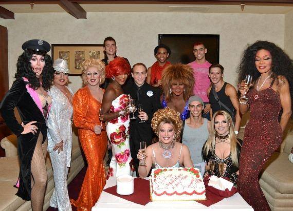 "Frank Marino with the cast of ""Divas Las Vegas"""