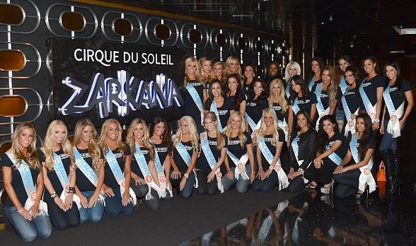 TropicBeauty Model Search Beauties Attend Late Show of Zarkana by Cirque du Soleil