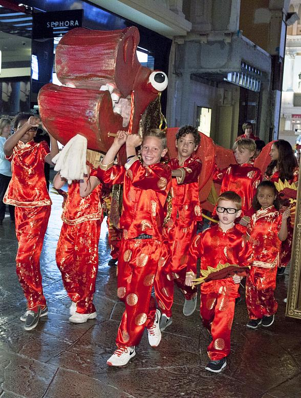Giant Illuminated Dragon, 22nd Annual Meadows School Parade, Special Retail Offerings and More as the Forum Shops Celebrates Chinese New Year