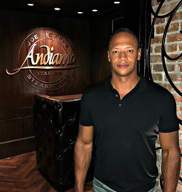 The Last Ship's Emerson Brooks Dines at Andiamo Italian Steakhouse in Las Vegas