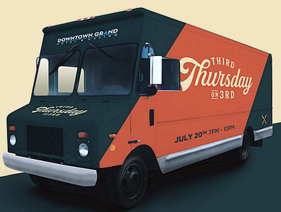 Downtown Grand Hotel & Casino Nighttime Food Truck, Art and Street Fun to Feature Five Gourmet Food Trucks, a Secret Walls Live Art Competition, DJ, Games and More