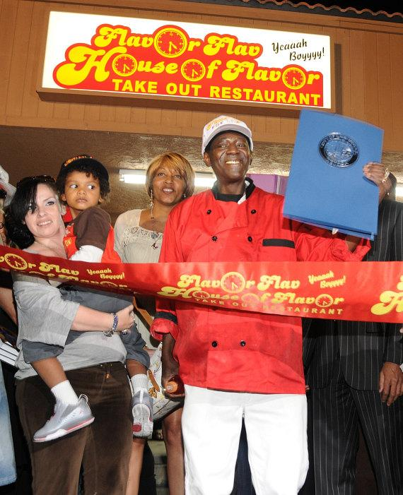 Flavor Flav, his girlfriend Liz and son Karma Drayton