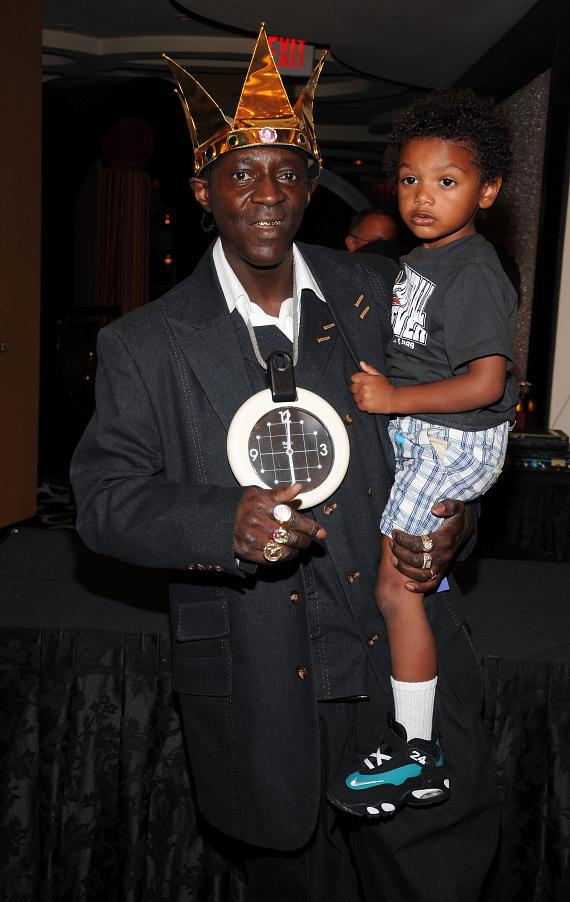 Flavor Flav and his son Karma Drayton at Las Vegas Hilton