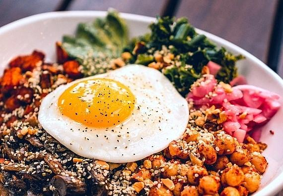Hemp Bowl is topped with a fried egg