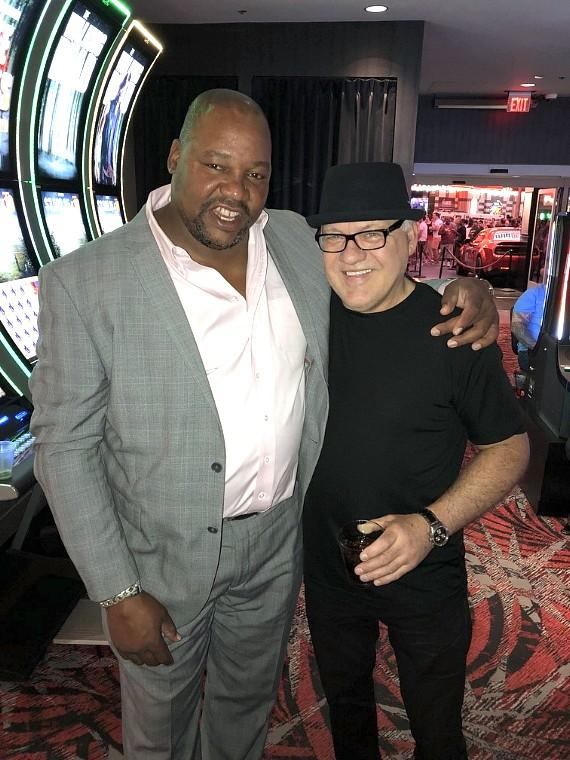 Former NHL player of Boston Bruins Darren Banks with Dennis Maruk of Washington Capitals at LONGBAR inside the D Casino Hotel Las Vegas