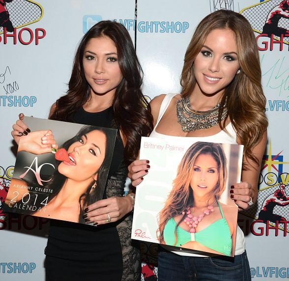 UFC Octagon Girls Arianny Celeste and Brittney Palmer Meet Fans at Las Vegas Fight Shop