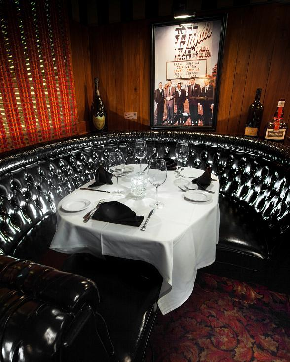 Dine and Drink in Sinatra's seat this Dec. at The Golden Steer Steakhouse in Las Vegas