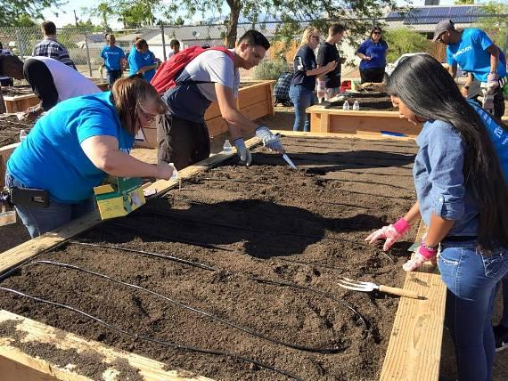 The Boys & Girls Clubs of Southern Nevada Plant the First Seeds in their Newest Garden