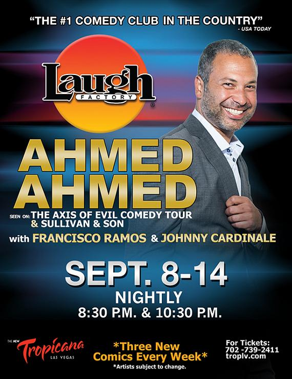 Comedian Ahmed Ahmed Headlines at The Laugh Factory in Tropicana Las Vegas