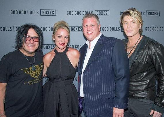 Goo Goo Dolls with the D Casino Hotel and DLVEC owner Derek Stevens and wife Nicole Parthum