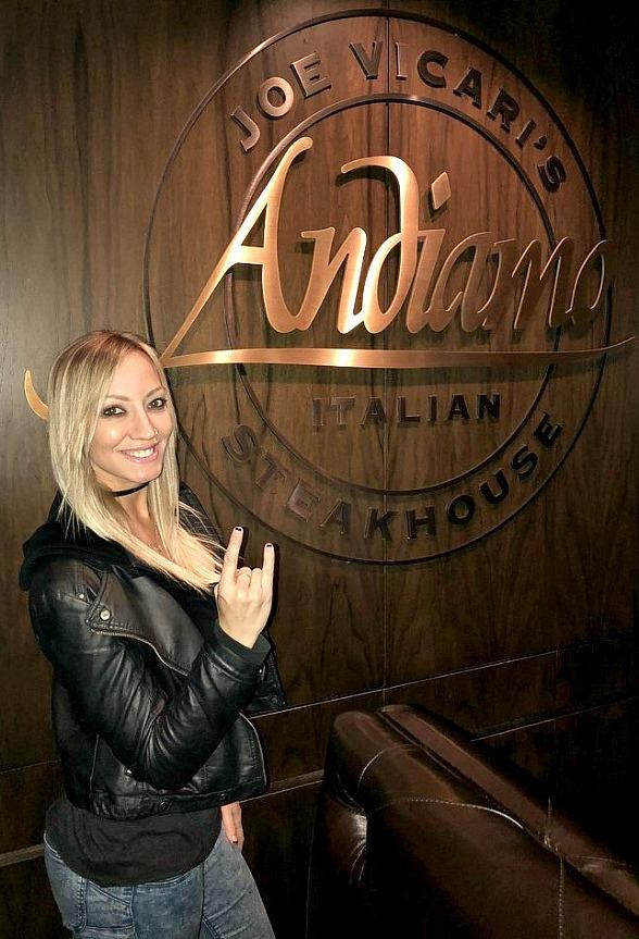 Musicians Nita Strauss and DJ Paul Visit Andiamo Italian Steakhouse in Las Vegas