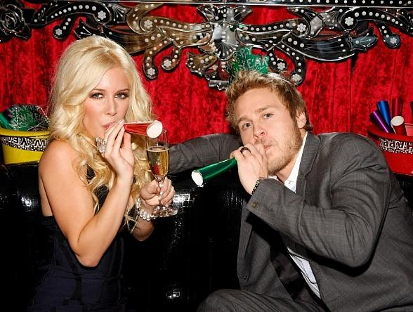 Heidi Montag and Spencer Pratt Ring in 2009 at Christian Audigier