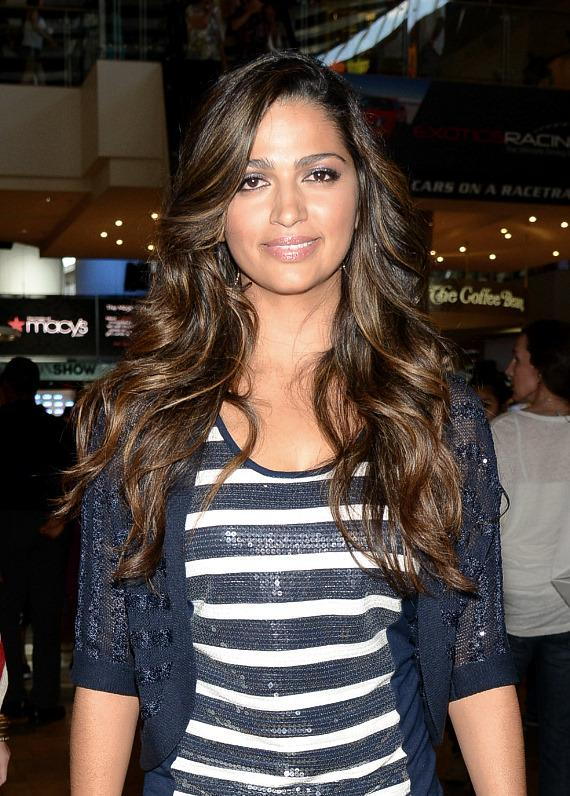 Model Camila Alves McConaughey at Macy's Fashion Store
