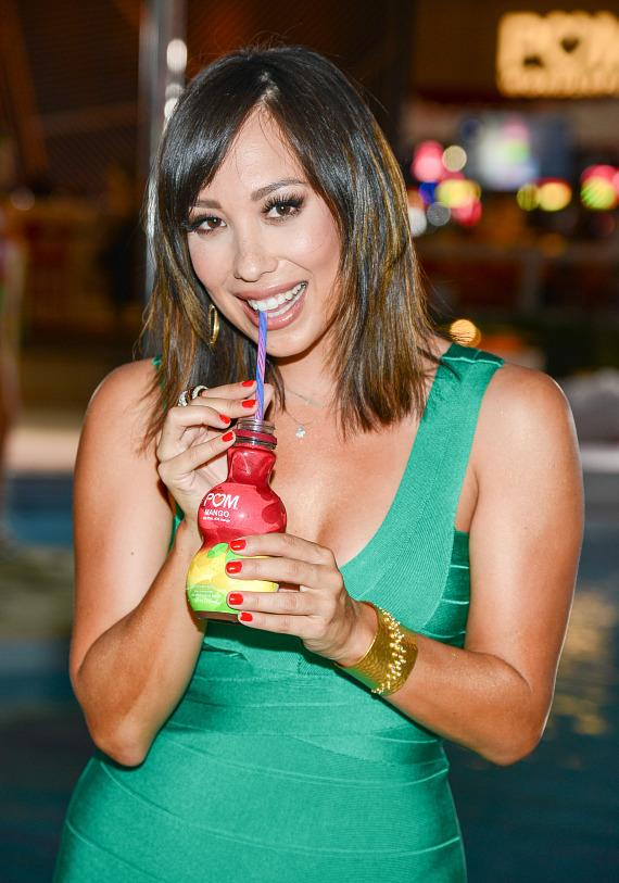 Cheryl Burke at launch of POM Wonderful's Juice Blends at Encore Beach Club