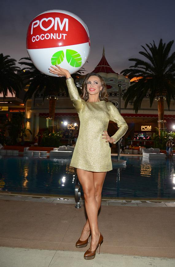 Karina Smirnoff at the launch of POM Wonderful's Juice Blends at Encore Beach Club