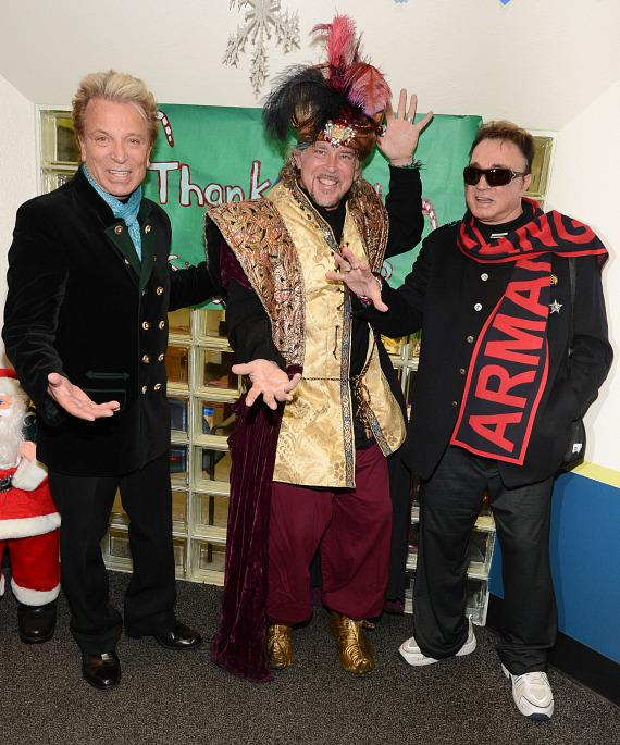 Siegfried & Roy with Magical Genie at The Boys & Girls Clubs Of Southern Nevada's Downtown Clubhouse