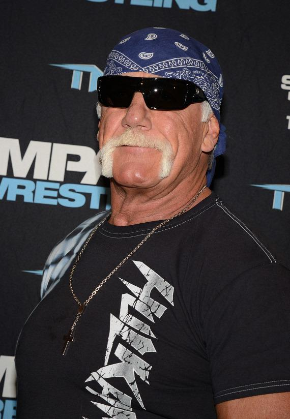 Hulk Hogan on the red carpet at Orleas Arena in Las Vegas