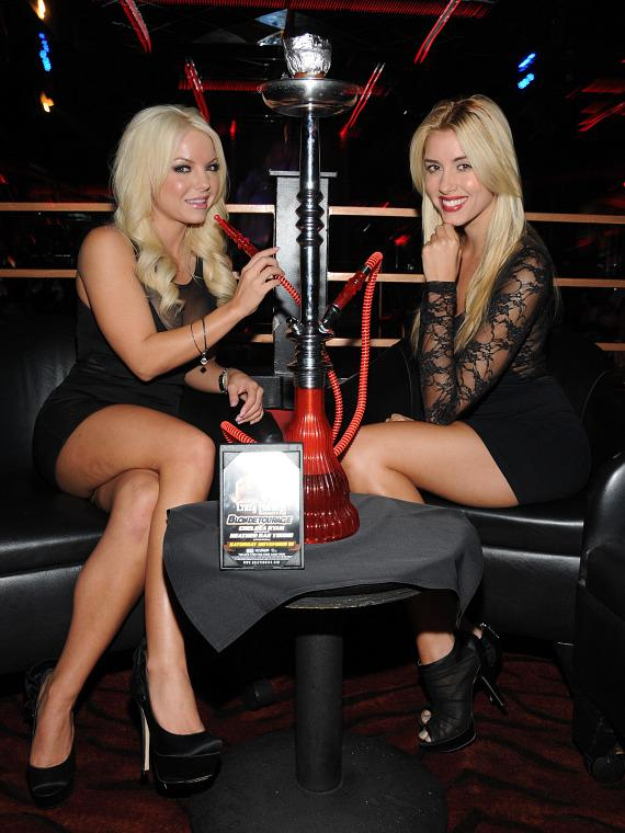 Chelsea Ryan and Heather Rae Young smoke grape flavored hookah at Crazy Horse III