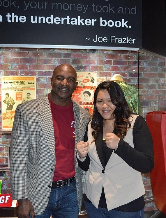 Boxing Legend Evander Holyfield Visits the SCORE! Interactive Sports Exhibit in Las Vegas