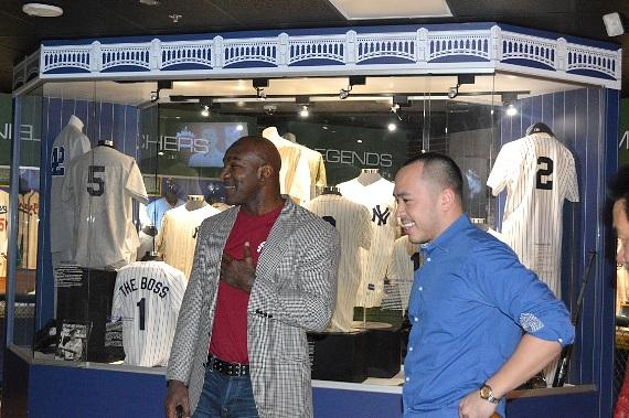 Evander Holyfield in SCORE's Baseball Hall of Fame