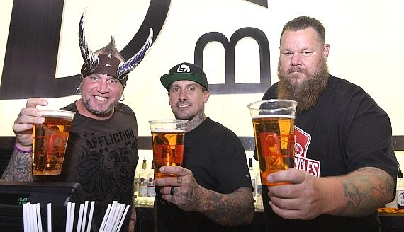 Horny Mike, Carey Hart and Big B at the D Bar Las Vegas