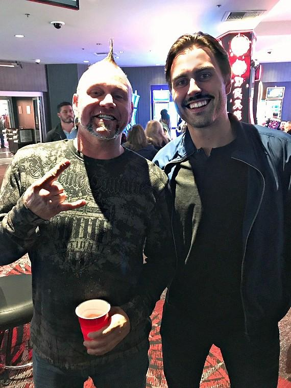 "Horny Mike of ""Counting Cars"" with NHL Vegas Hockey League player Alex Tuch at the D Casino Hotel Las Vegas"
