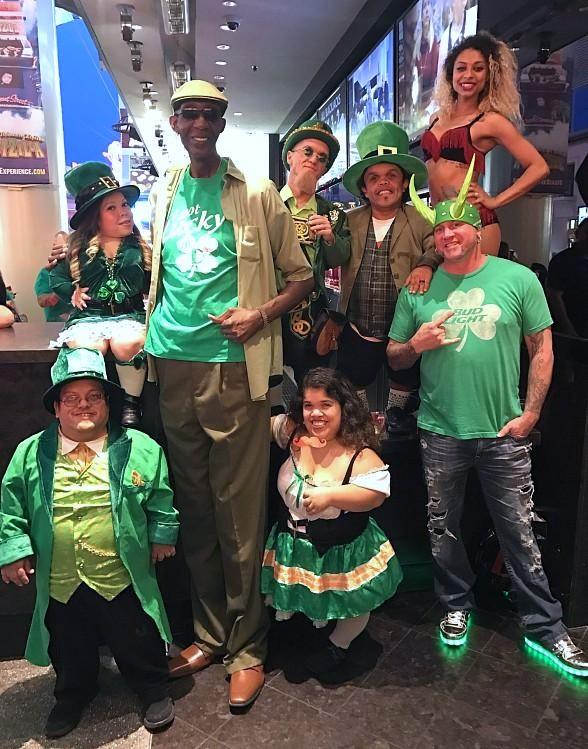 The D and Golden Gate Casino Hotels Draw Celebrities, Leprechauns, Green Beer, and Green Horns to Downtown's Biggest St. Patrick's Day Party