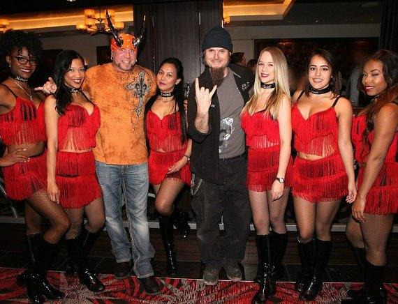 Horny Mike and Ryan Evans of Counting Cars with the D Casino Hotel Dancing Dealers in Las Vegas