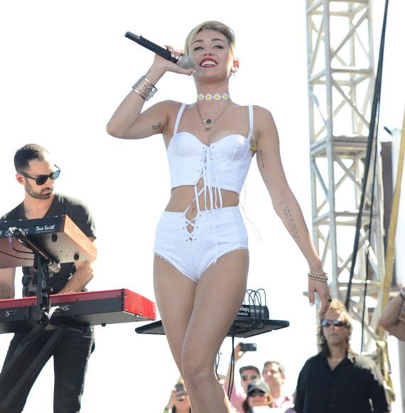 Miley Cyrus at iHeartRadio Village in Las Vegas
