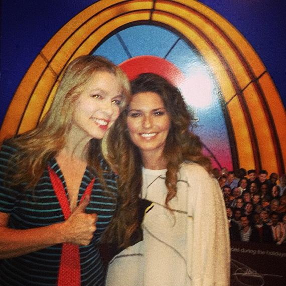 Felicia Michaels with Shania Twain at Laugh Factory in Tropicana Las Vegas