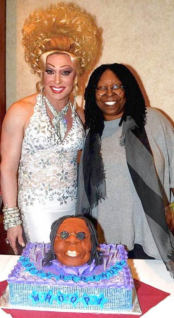 Whoopi Goldberg Celebrates 58th Birthday at Divas Starring Frank Marino