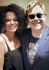 "Elton John Attends Diana Ross' Residency ""The Essential Diana Ross: Some Memories Never Fade"" at The Venetian Theatre"