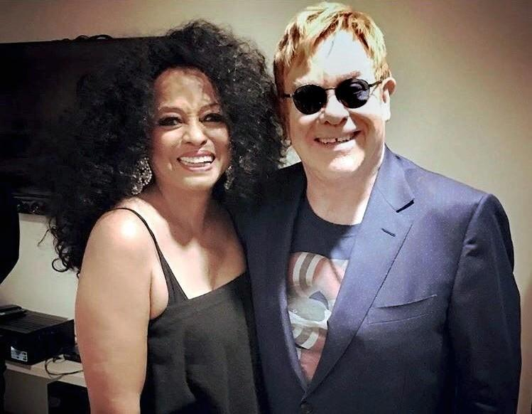 """Elton John Attends Diana Ross' Residency """"The Essential Diana Ross: Some Memories Never Fade"""" at The Venetian Theatre"""