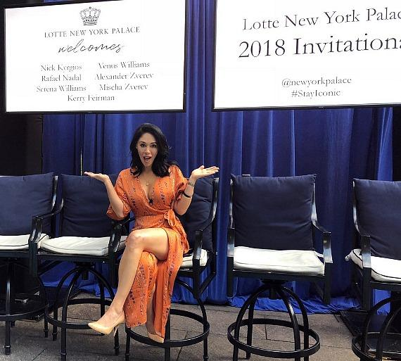 "Kerry, when she emceed the Lotte New York Palace's Fourth Annual ""Palace Invitational"""