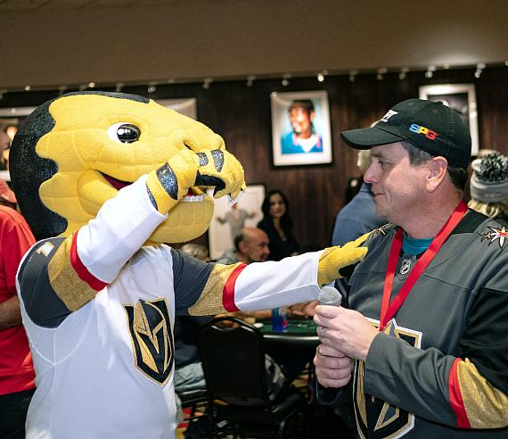 """Chance"" the VGK mascot played this year"