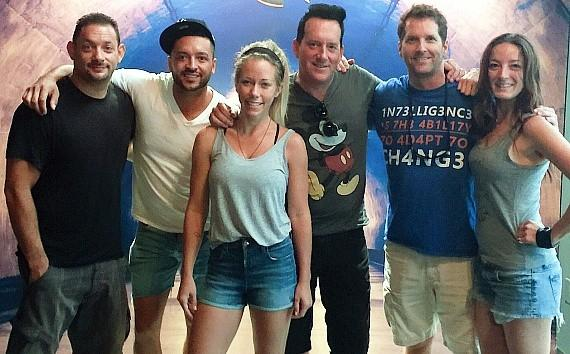 Today, Sex Tips Vegas stars, Kendra Wilkinson with Hypnotist Anthony Cools and friends at Reality Escape