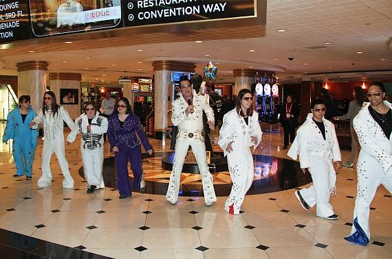 The OV Elvi and the Official Elvis of Las Vegas, Jesse Garon, performed a few of Elvis Presley's greatest hits at the Westgate Las Vegas Resort & Casino