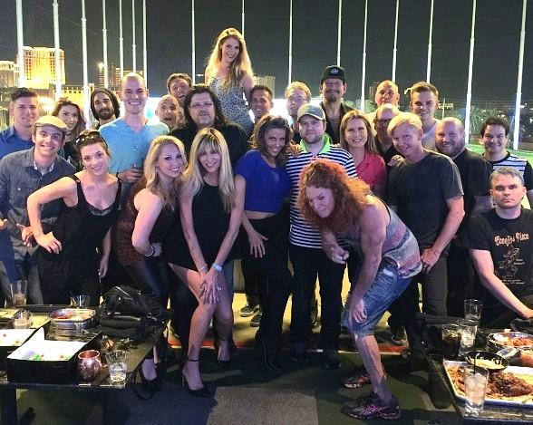 Piff the Magic Dragon Celebrates Birthday at Topgolf with other Strip Headliners
