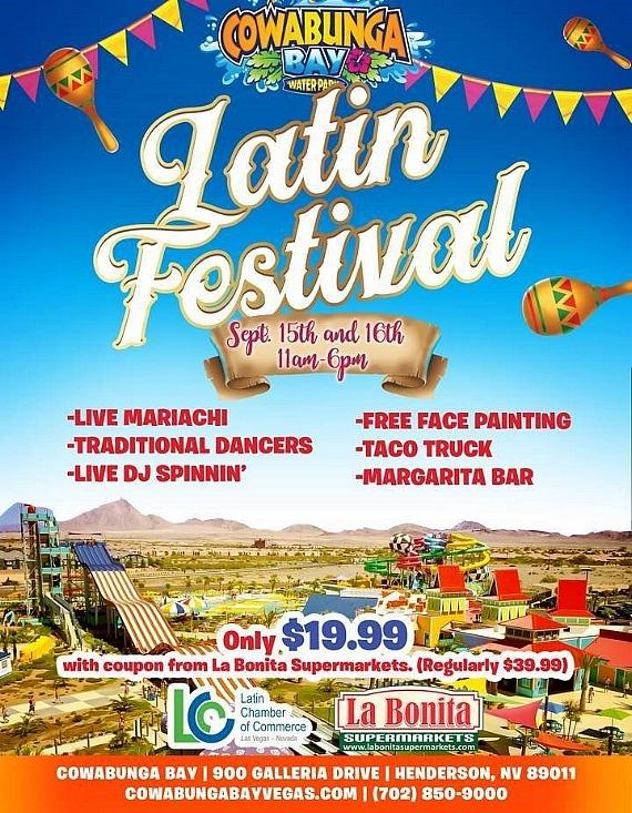 Cowabunga Bay Celebrates This Weekend a Latin Festival! Sept. 15-16