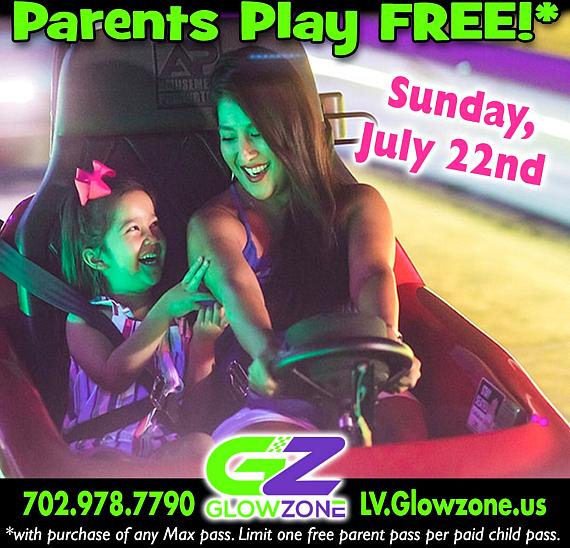 Sunday, July 22 is Parent's Day. All parents are free!
