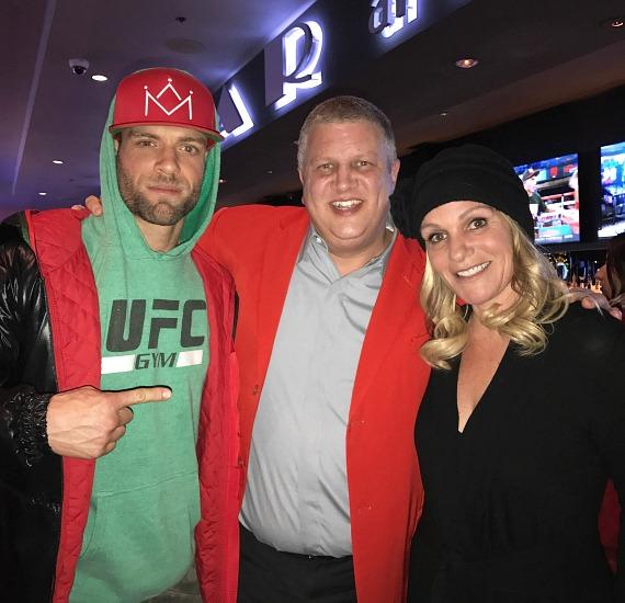 UFC fighter Alessandro Ricci with the D owner Derek Stevens and wife Nicole Parthum