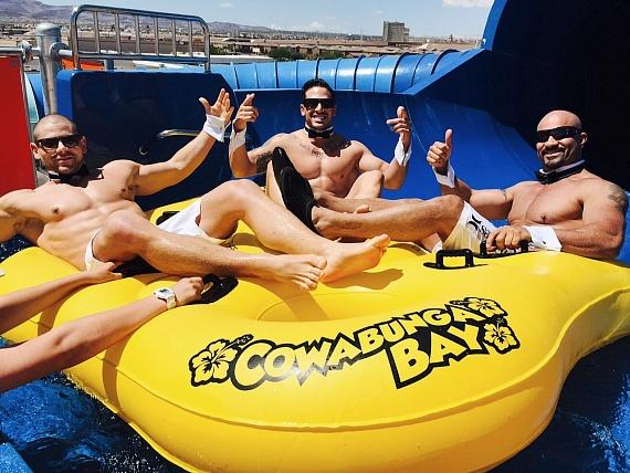 Chippendales cast at Cowabunga Bay