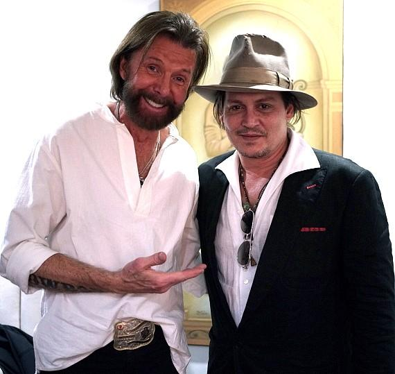 Ronnie Dunn with Johnny Depp