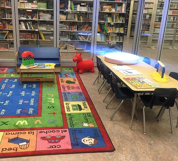 Vegas PBS Play Area for impaired students containing educational games for deaf and blind