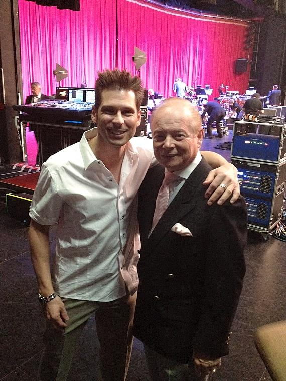 Mike Hammer with Tony Oppedisano, road manager of Don Rickles