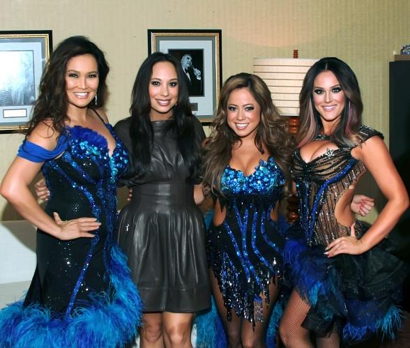 "Tia Carrere, Cheryl Burke, Sabrina Bryan and Lacey Schwimmer meet backstage at ""Dancing with the Stars Live in Las Vegas"" inside the New Tropicana"
