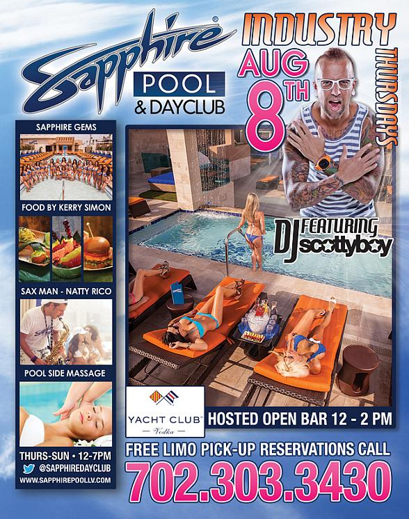 Sapphire Pool & Dayclub to Host Industry Thursday with DJ Scotty Boy and Resident DJ Truelove Thursday, August 8