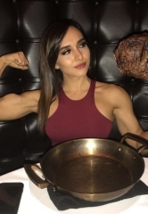 Famous Podcaster Jon Orlando and Instagram Fitness Model Vanessa Serros Celebrate at Andiamo Las Vegas